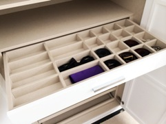 Shallow Drawer with Dividers