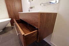 Walnut Under Sink Cabinet