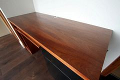 Sapele Fitted Home Office Desk