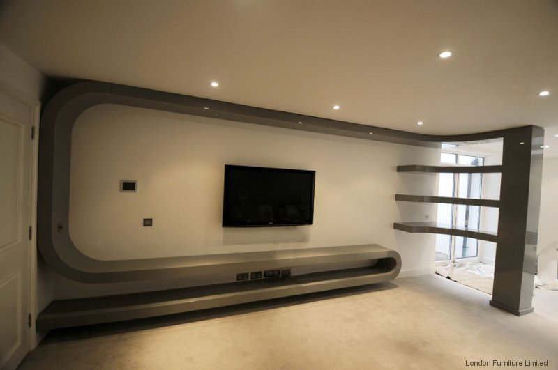 Fitted living room furniture london bespoke tv unit for Living room units