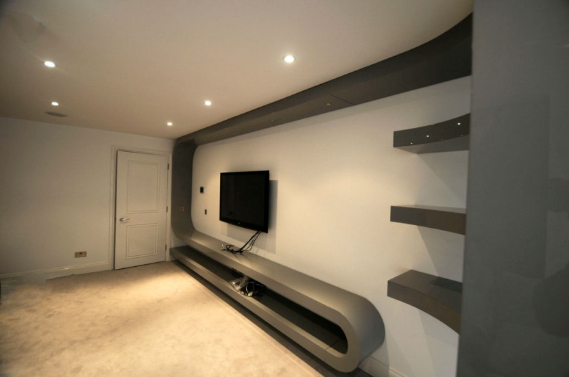 Fitted Living Room Furniture London Bespoke Tv Unit