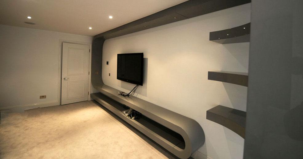 Fitted Living Room Furniture London | Bespoke TV Unit