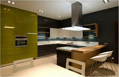 High Gloss Polished Kitchen