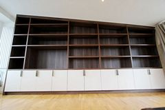 Walnut Melamine Library