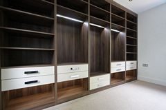 Walnut Melamine Walkin Wardrobe